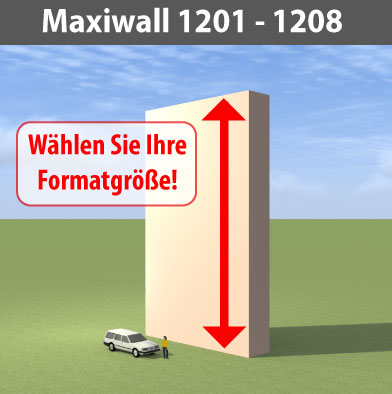 maxiwall 1201 - 1208 Riesen-Werbewand B12m