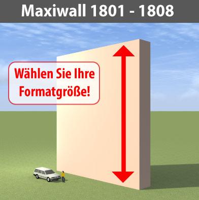 maxiwall 1801 - 1808 Riesen-Werbewand B18m