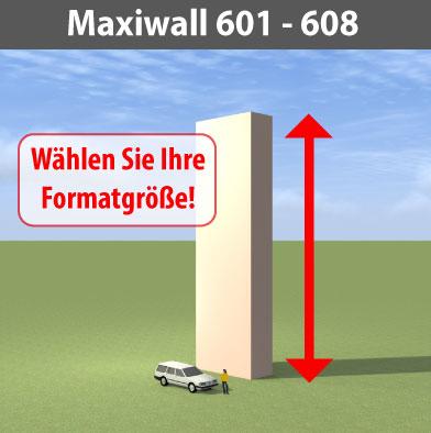 maxiwall 601 - 608 Riesen-Werbewand B6m
