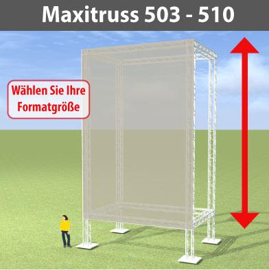 maxitruss 503 - 510 Alutraversen-Großwerbewände
