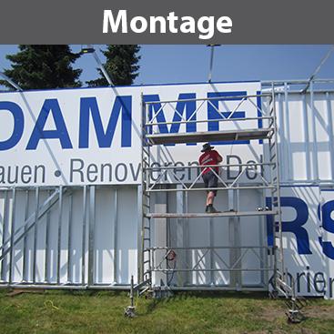 Montage, Statik, Fundamente, Wand- und Turmmontage